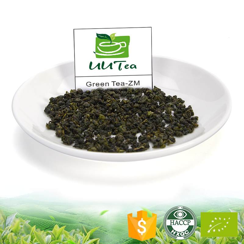 Chinese health organic green tea brands of se-enriched pearl green refined tea