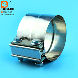4 inch Preformed Polished stainless steel Exhaust Seal Clamp
