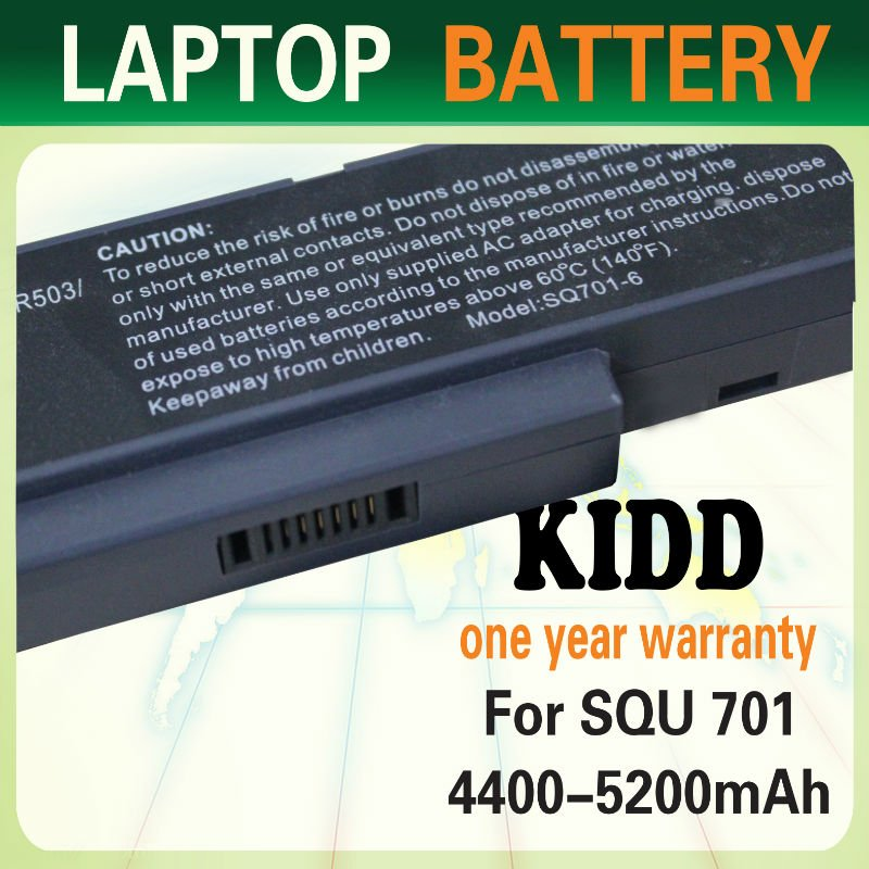 For BENQ JoyBook R43 R56 Q41 Battery SQU-701 SQU-712 laptop rechargeable battery case