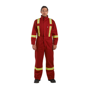 Custom Made Industrial Safety Coveralls With Reflector Uniform