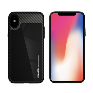 Black Custom Clear View Mirror Cell Phone Case Maker For iPhone X