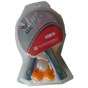 Wholesale high quality pingpong racket,best table tennis racket with thickness rubber and sponge