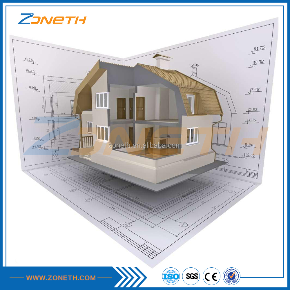 China sandwich eco expandable villa supplier with prefab