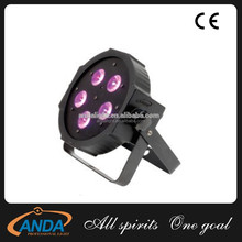 Hot selling!!! led 7pcs*10w 4in1 stage par rgbw led flat par/led par lights for dj wedding night club