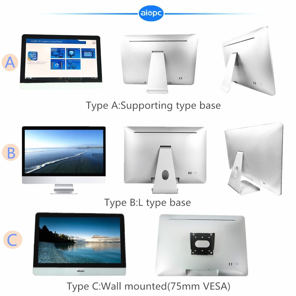 "18.5'', 19"",21.5'',22"",23.6'',24"" cheap touch screen mini pc"