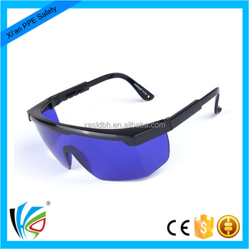 87e5694b0c Industry Used Safety Goggles Dark Blue Lens Laser Safety Glasses ...