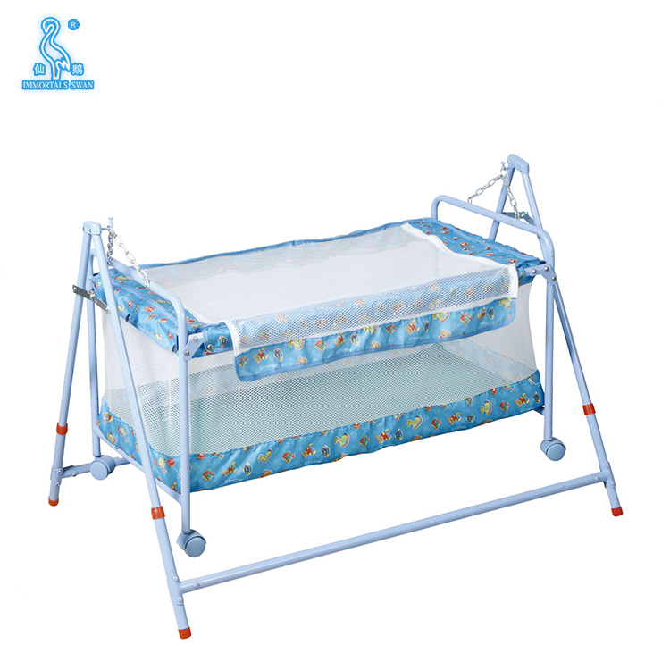 Portable Stable Iron Frame Swing Baby Cradle With Canopy - Buy ...
