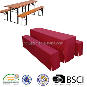 Festbankhussenset 100%polyester beer bench and table cover set