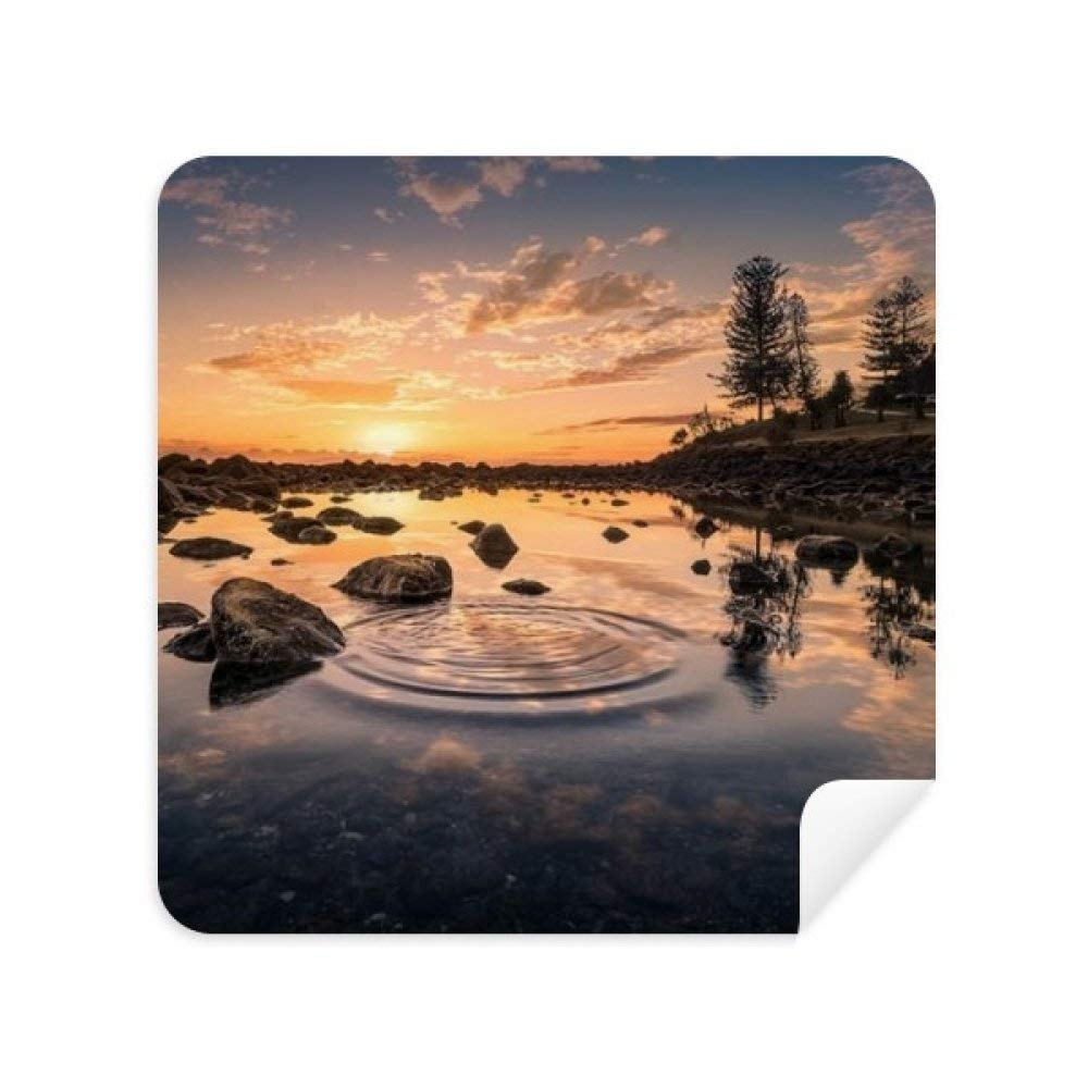 Ocean Sky Stone Water Science Nature Glasses Cleaning Cloth Phone Screen Cleaner Suede Fabric 2pcs