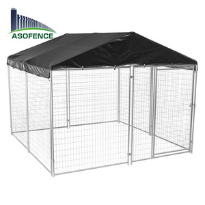 China wholesale galvanized steel metal dog kennel cage