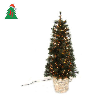 Faux Outdoor Led Lighted Christmas Cone Tree Artificial Christmas