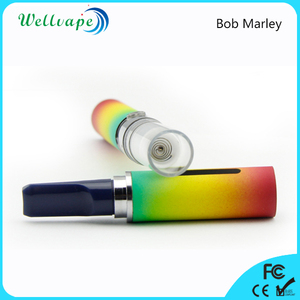 Best selling 650mAh battery glass tank Bob Marley dry herb globe glass vaporizer