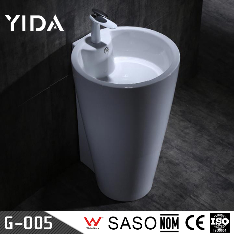 Oem Modern Design Cheap Bathroom Ceramic White Wash Basin Pedestal/Freestanding Sinks For Sale