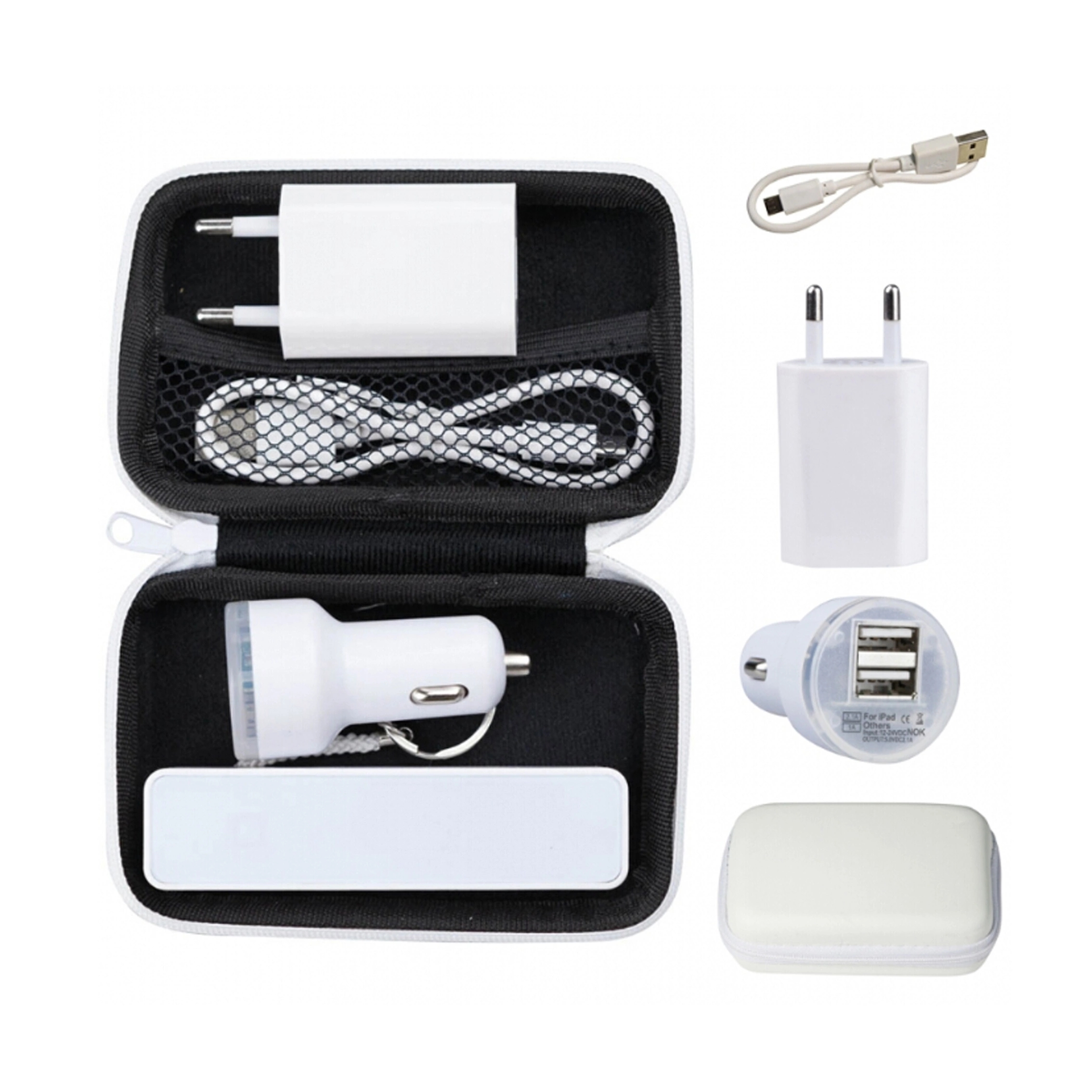 Promotion gift  4 in 1 Power Bank Travel set