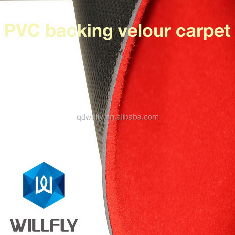 Low price hot sale velour disposable carpet for event