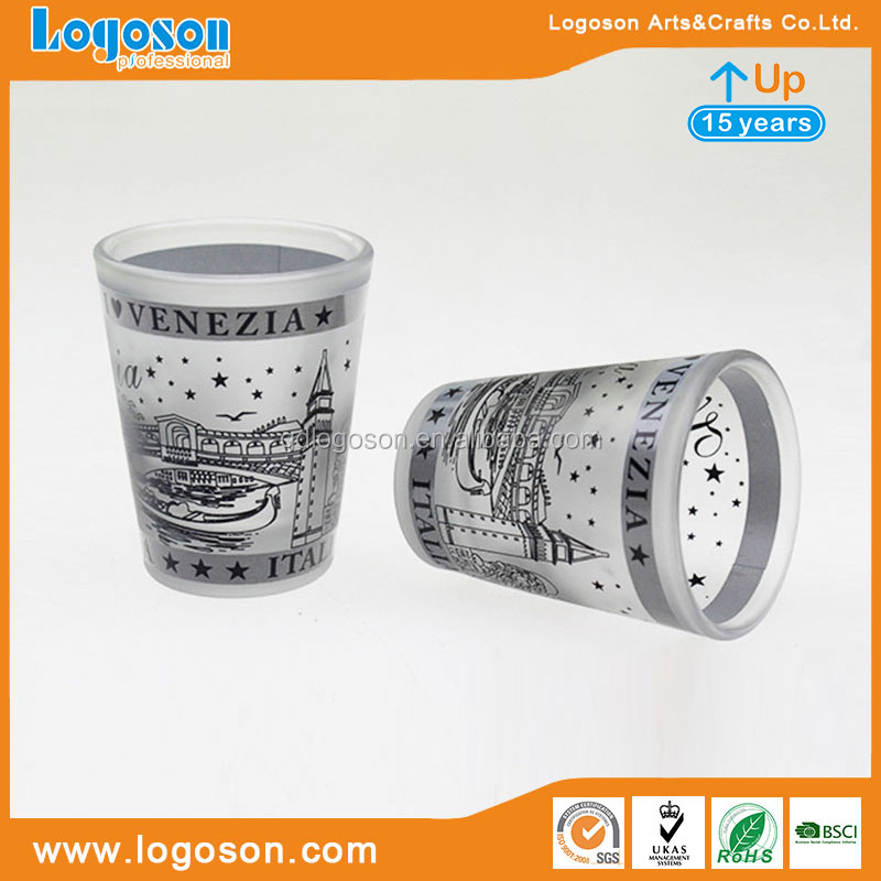 Italy Travelling Souvenirs Europe Shot Glass Custom Venice Sight Image Glass Shot