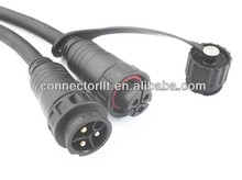 LLT 3 pin cable coupler led lighting outdoor cable waterproof connector