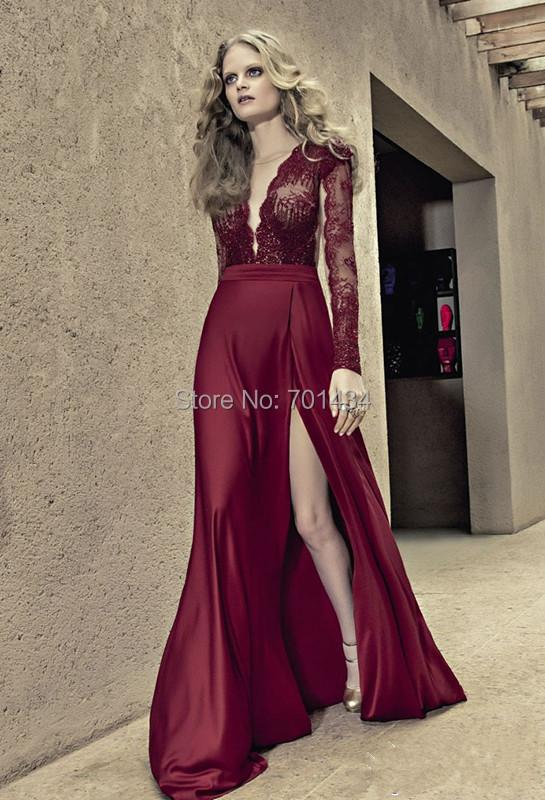 Vestidos Color Vino Noche