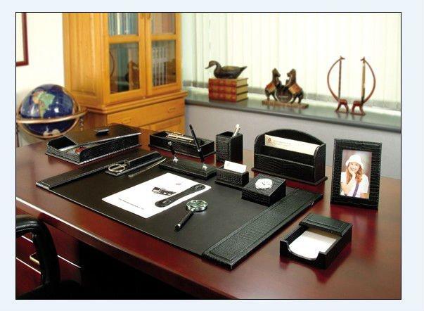 2018 Faux Leather Office Desk Set Pu