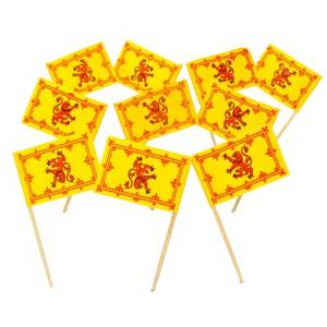 Scotland | Scottish Rampant Lion Flag Toothpicks (100)