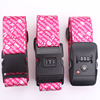 Free sample custom luggage strap/polyester luggage belt with lock/travel luggage bag belt