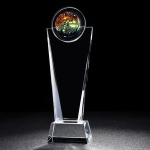 creative design K9 crystal award clear trophy for monument ceremony party as souvenir decor