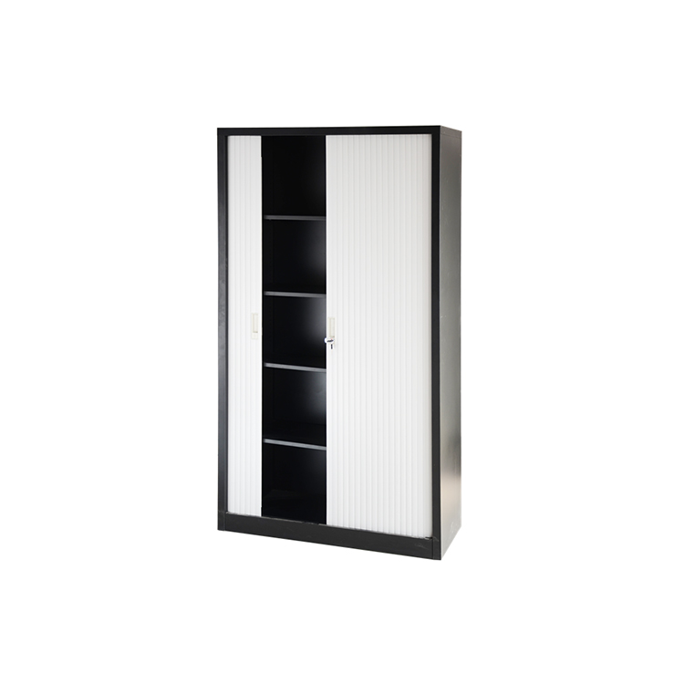 2 sliding stainless steel metal file storage tambour door cabinet