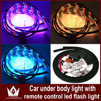 Wholesale 4PCS 7Color LED Underbody Under Car Flash Lights Kit + Remote Control Sound