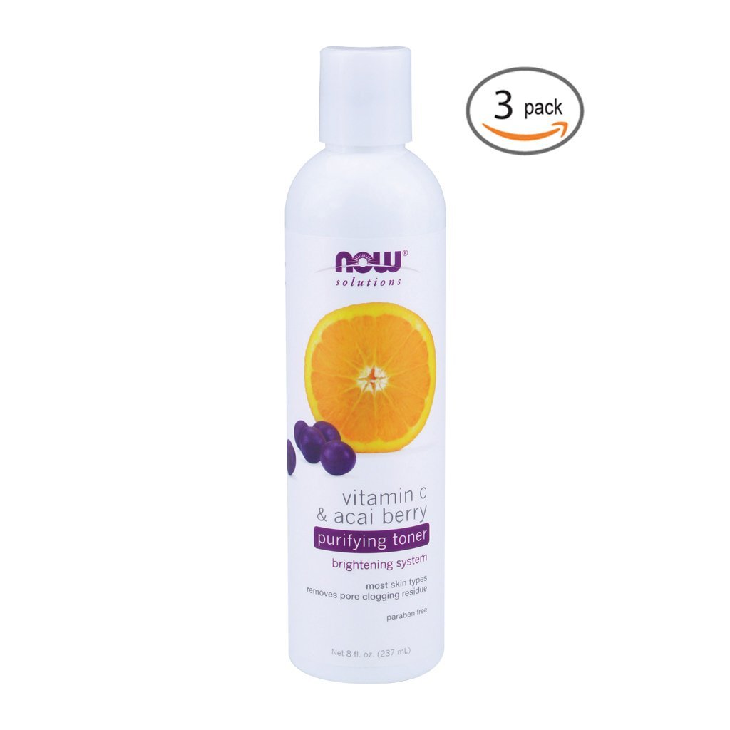 Now Foods Vitamin C & Acai Berry Purifying Toner - 8 fl. oz. 3 Pack