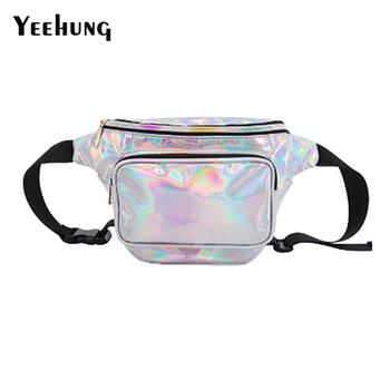 Designer Whole Custom Logo Uni Pvc Hologram Pack Bag Purse Waist
