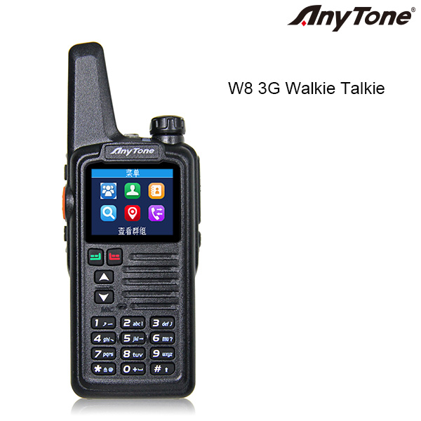 Walkie-talkie do rádio de 3G / 4G PTT Smartphone Anytone W8