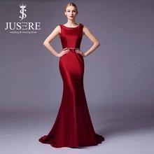 Hotselling Scoop Neck Mermaid burgundy Evening Dress Wholesale Ladies' Formal Dress For Wedding