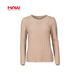OEM service Computer Knitted O-Neck Ladies Women Sweater for Winter