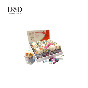 New Product Needlework Craft Wholesale Small Sewing Kits in PET Jar with Pin Cushion