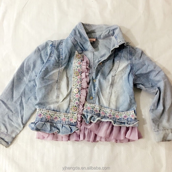 second hand clothes from China 2017 fashion clothes for sale used children jean jacket