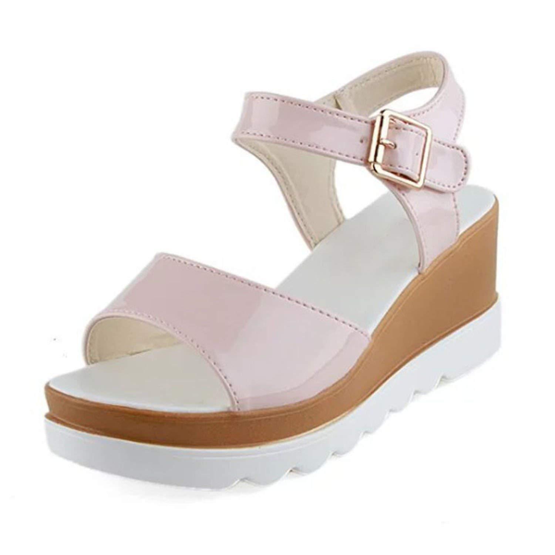 d6891b44b677 Get Quotations · Show-Show-Fashion slides-sandals Platform Wedges Women  Sandals Open Toes Casual Sandals