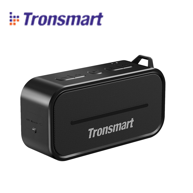 Original Tronsmart Element T2 Black Bluetooth 4.2 Outdoor Water Resistant Speaker Compatible with all Bluetooth-enabled devices