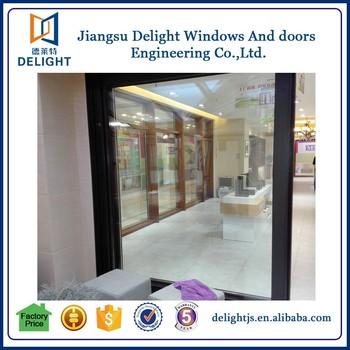 laminado de vidrio doble puertas correderas cocina para la puerta de casa