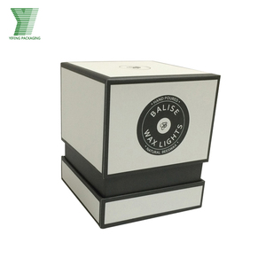 Custom Made Matte White Texture Paper Wax Candle Packaging Gift Box for Candle