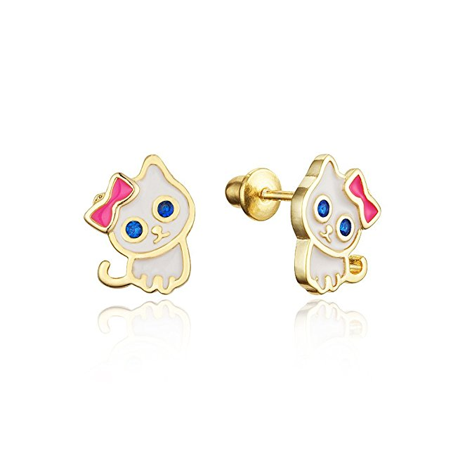 Alibaba Wholesale Jewelry Silver 925 Hello Kitty Stud Earrings With