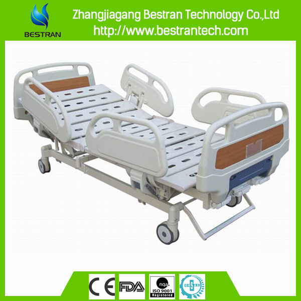 BT-AM114 Best quality three function manual medical hospital bed, mobile hospital bed manufacturer