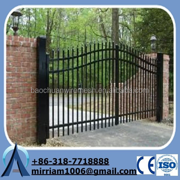 de pintura en polvo de seguridad puerta de hierro forjado para jardn fabrica
