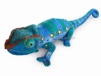 realistic plush chameleon toy stuffed african chameleon plush toy in