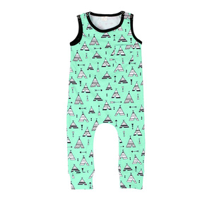 baby boutique wholesale china baby body suits white sleeveless cute boy romper