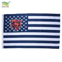 Football Team NFL American Chicago Bears Flags
