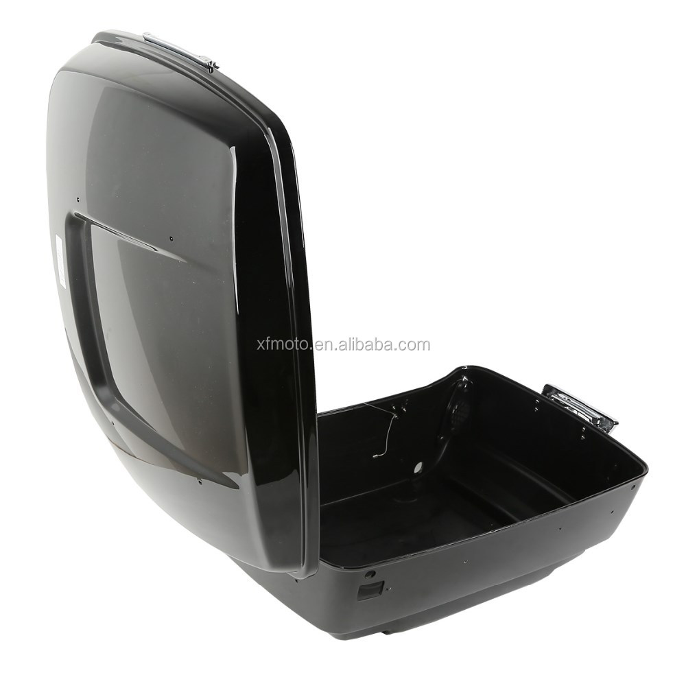 Vivid Black Tour Pak Trunk +Lid with lock set For Touring Models Road King Electra Glide 2014-2018