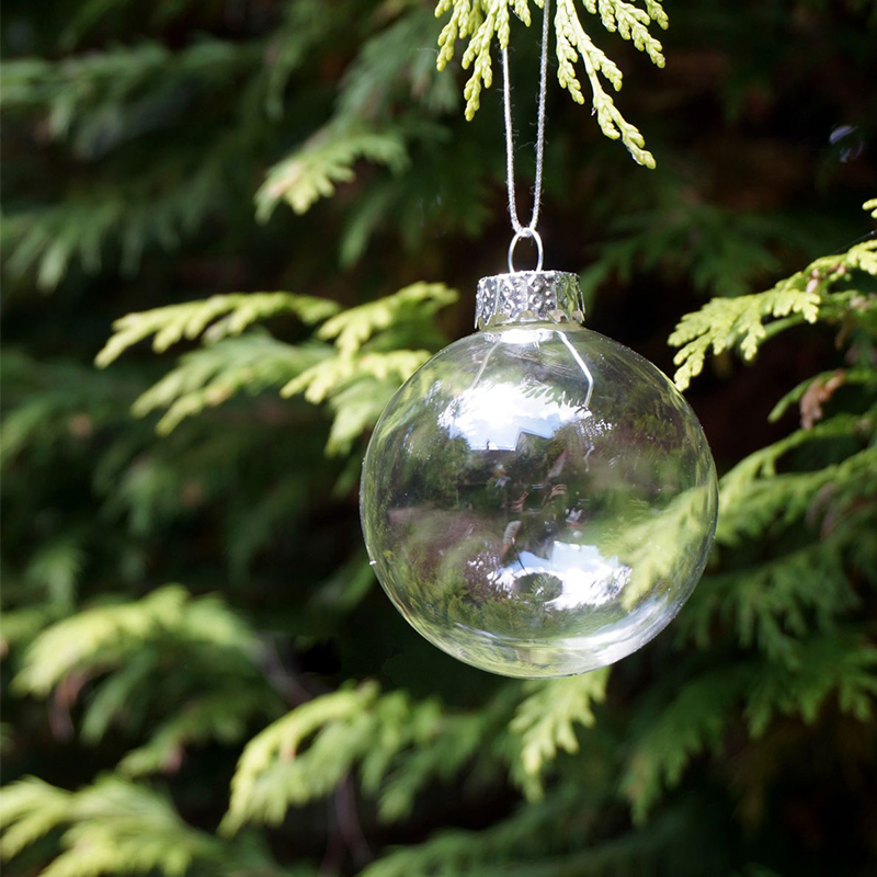 How To Decorate Glass Ornaments For Christmas: Christmas Glass Balls Clear Baubles Ornaments Decorations