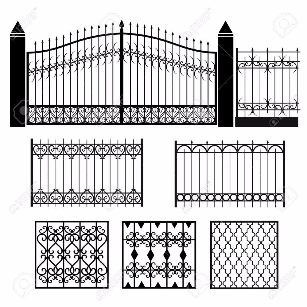 Good Quality House Gate Designs And Wrought Iron Fence Steel Fence ...