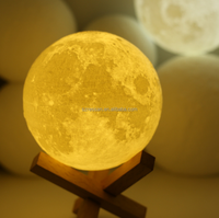 Creative desk lamp 3D Moon Lampbedroom bedside lamp Christmas gift charging touch small night lamp for kids