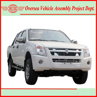pick up truck jinbei brand or customized brand available (skd local assembly easy to operate)
